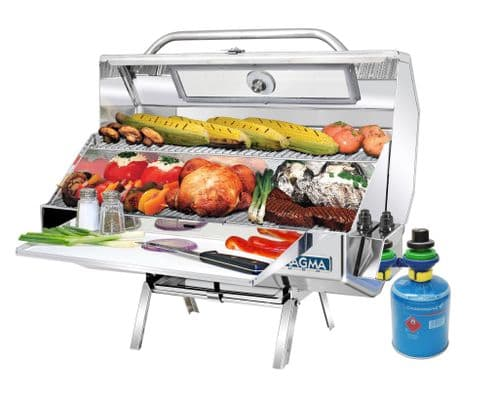 """A10-1225-2GSCE-2 Monterey INFRARED Gas BBQ 12"""" x 24"""" Cooking Area with Warming Shelf"""